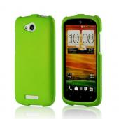 Neon Green Rubberized Hard Case for HTC One VX