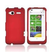 HTC Radar 4G Rubberized Hard Case - Red