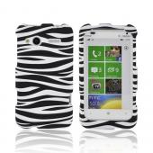 HTC Radar 4G Rubberized Hard Case - Black/ White Zebra