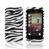 HTC Rhyme Rubberized Hard Case - Black/ White Zebra