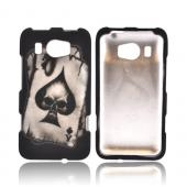 HTC Titan 2 Rubberized Hard Case - Ace Skull on Black