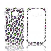 HTC Titan 2 Rubberized Hard Case - Colorful Leopard on White