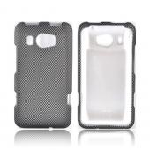 HTC Titan 2 Rubberized Hard Case - Black/ Gray Carbon Fiber