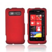 HTC Trophy Rubberized Hard Case - Red