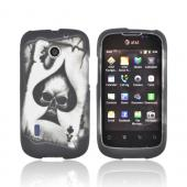 AT&T Fusion U8652 Rubberized Hard Case - Ace Skull on Gray