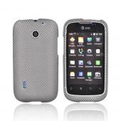 AT&T Fusion U8652 Rubberized Hard Case - Black/ Gray Carbon Fiber