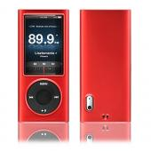 Apple iPod Nano 5 Rubberized Hard Case - Red
