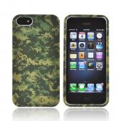 Apple iPhone 5 Rubberized Hard Case - Green Digital Camouflage