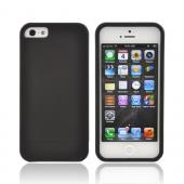 Apple iPhone 5/5S Slide-On Rubberized Hard Case - Black
