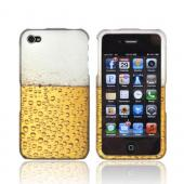 AT&amp;T/ Verizon Apple iPhone 4, iPhone 4S Rubberized Hard Case - Gold Beer