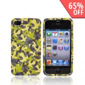 Luxmo Apple Verizon/ AT&amp;T iPhone 4, iPhone 4S Rubberized Hard Case - Green Camouflage