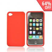Apple Verizon/ AT&amp;T iPhone 4, iPhone 4S Rubberized Hard Case - Orange