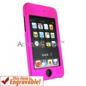 Apple iPod Touch 2 & 3 Rubberized Hard Case - Hot Pink