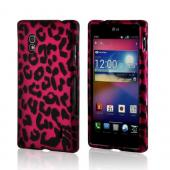 Hot Pink/ Black Leopard Rubberized Hard Case for LG Optimus G (AT&T)