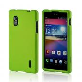 Neon Green Rubberized Hard Case for LG Optimus G (AT&T)