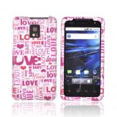 T-Mobile G2X Rubberized Hard Case - Pink Love &amp; Hearts