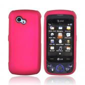 LG Neon II GW370 Rubberized Hard Case - Rose Pink