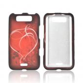 LG Viper 4G LTE/ LG Connect 4G Rubberized Hard Case - Red Heart on Stars