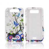 LG Viper 4G LTE/ LG Connect 4G Rubberized Hard Case - Rainbow Spring Flowers on White