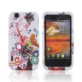 T-Mobile MyTouch Rubberized Hard Case - Autumn Floral Burst on White
