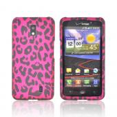 LG Spectrum Rubberized Hard Case - Hot Pink/ Black Leopard