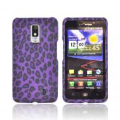 LG Spectrum Rubberized Hard Case - Purple/ Black Leopard