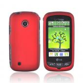LG Cosmos Touch VN270 Rubberized Hard Case - Red