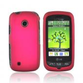 LG Cosmos Touch VN270 Rubberized Hard Case - Rose Pink