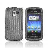 LG Enlighten VS700 Rubberized Hard Case - Carbon Fiber