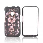 LG Revolution, LG Esteem Rubberized Hard Case - Skull on Black