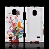 LG Spectrum 2 Rubberized Hard Case - Autumn Floral Burst on White