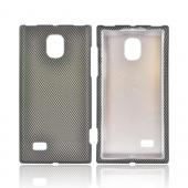 LG Spectrum 2 Rubberized Hard Case - Black/ Gray Carbon Fiber Design