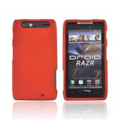 Motorola Droid RAZR Rubberized Hard Case - Orange