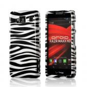 White Black Zebra Hard Plastic Case Cover for Motorola Droid RAZR MAXX HD