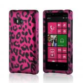 Hot Pink/ Black Leopard Rubberized Hard Case for Nokia Lumia 810