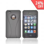 AT&amp;T/ Verizon Apple iPhone 4, iPhone 4S Rubberized Hard Case - Black