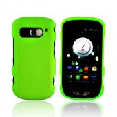 Pantech Breakout Rubberized Hard Case - Neon Green