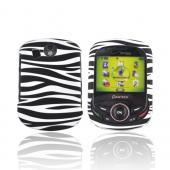 Pantech Jest 2 Rubberized Hard Case - Black/ White Zebra
