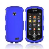 Samsung Solstice II A817 Rubberized Hard Case - Blue
