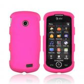 Samsung Solstice II A817 Rubberized Hard Case - Hot Pink