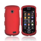 Samsung Solstice II A817 Rubberized Hard Case - Red