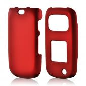 Red Rubberized Hard Case for Samsung Rugby 3