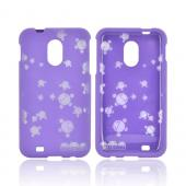 Samsung Epic 4G Touch Androitastic Rubberized Hard Case - Purple Bubble Bot Invasion