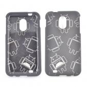 Samsung Epic 4G Touch Rubberized Androitastic Hard Case - Black