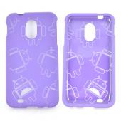 Samsung Epic 4G Touch Rubberized Androitastic Hard Case - Purple