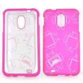 Samsung Epic 4G Touch Rubberized Androitastic Hard Case - Rose Pink