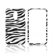 Samsung Epic 4G Touch Rubberized Hard Case - White/ Black Zebra