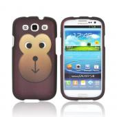 Samsung Galaxy S3 Rubberized Hard Case - Brown Monkey