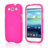 Samsung Galaxy S3 Rubberized Hard Case - Hot Pink