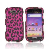 Samsung Galaxy S Blaze 4G Rubberized Hard Case - Hot Pink/ Black Leopard